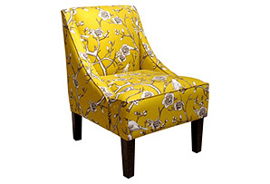 Fletcher Swoop-Arm Chair, Marigold*