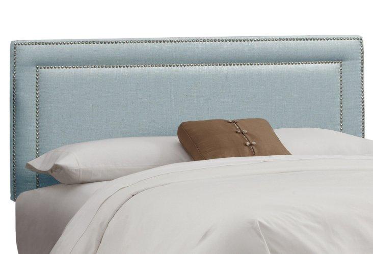 Bardot Linen Headboard, Light Blue