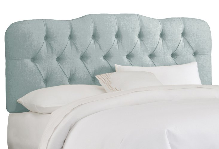 Davidson Tufted Headboard, Light Blue