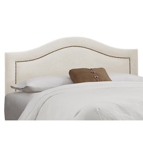 Parker Arched Headboard, White