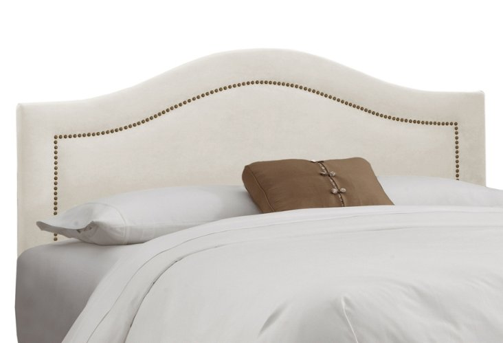 Parker Cotton Arched Headboard, White