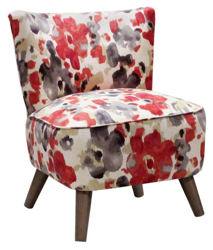 Barnes Modern Chair, Red Multi