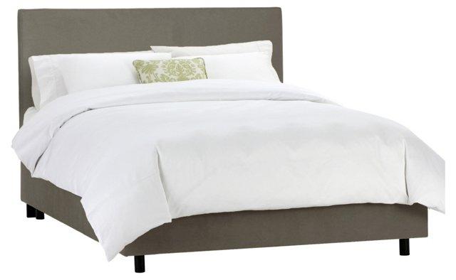 Macy Upholstered Bed, Dark Gray