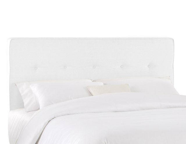 Amy Tufted Cotton Headboard, White
