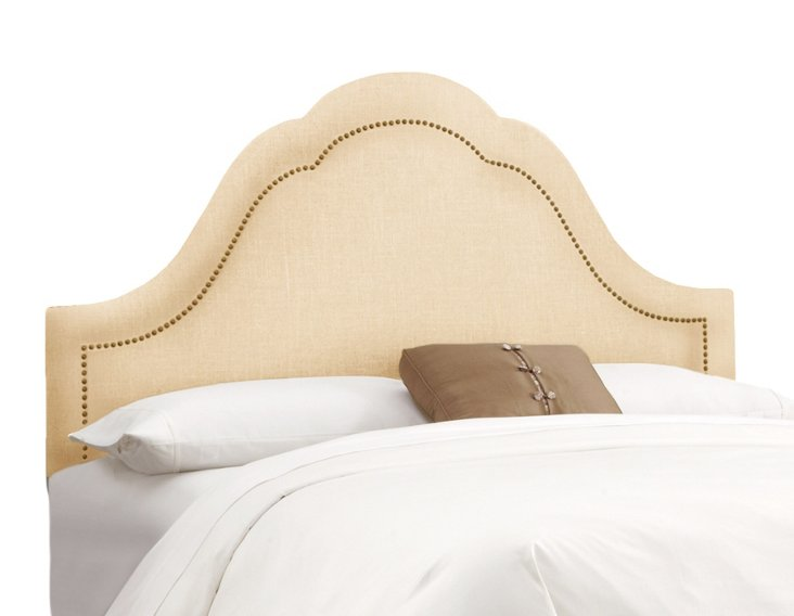 Jameson Headboard, Linen Sandstone