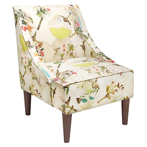 Quinn Swoop-Arm Chair, Multi