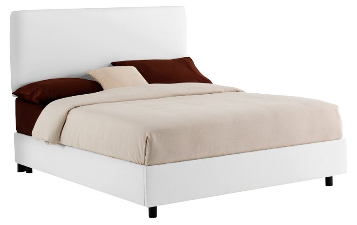 Cassidy Bed, White Twill