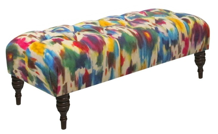 "Stanton 50"" Tufted Bench, Multi"
