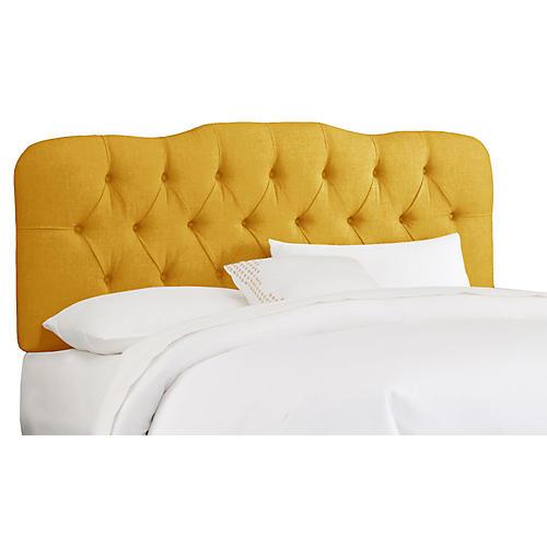 Davidson Tufted Headboard, French Yellow Linen