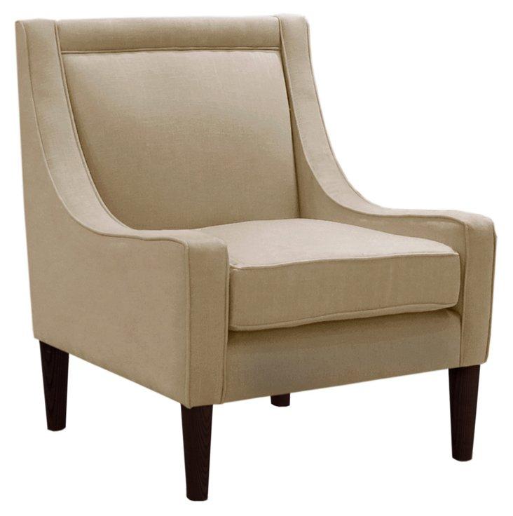 Scarlett Swoop-Arm Chair, Jute