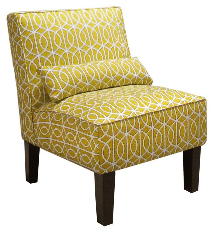 Bergman Armless Chair, Citrine
