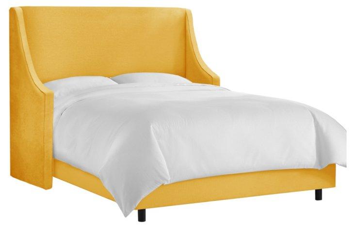 Davis Wingback Bed, Marigold