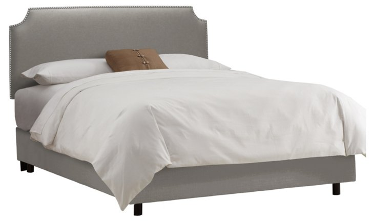 Ellis Nailhead Bed, Gray
