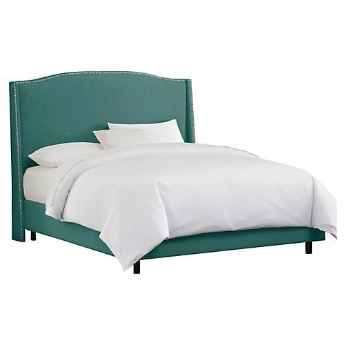 Cole Wingback Bed, Seafoam