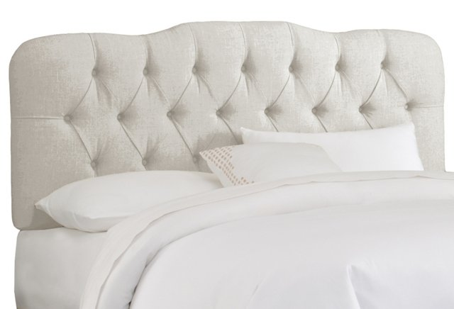 Davidson Tufted Headboard, Talc