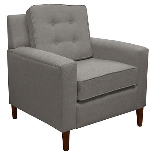 Winston Club Chair, Gray