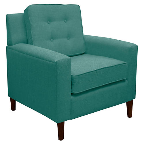 Winston Club Chair, Teal