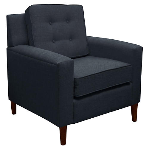Winston Club Chair, Navy