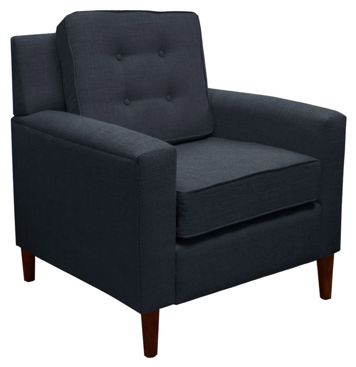 Winston Chair, Navy Linen