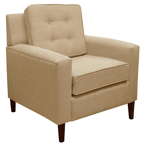 Winston Club Chair, Sand Linen