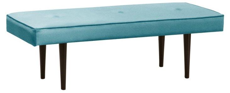 """Leila 48"""" Bench, Sky Blue"""
