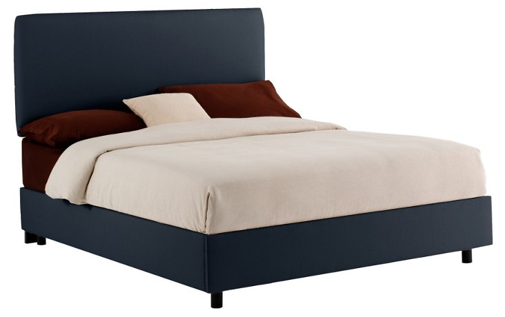 Cassidy Upholstered Bed, Navy