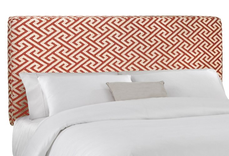 Macy Cotton Headboard, Red/White