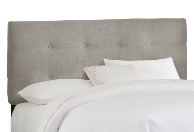 Lindley Tufted Headboard, Pewter