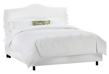 Eloise Slipcover Bed, White Twill
