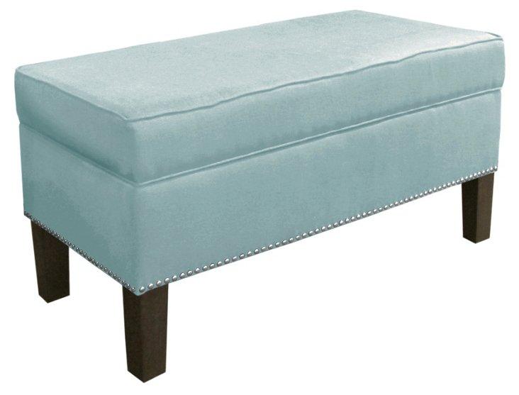 Dunne Storage Bench, Light Blue