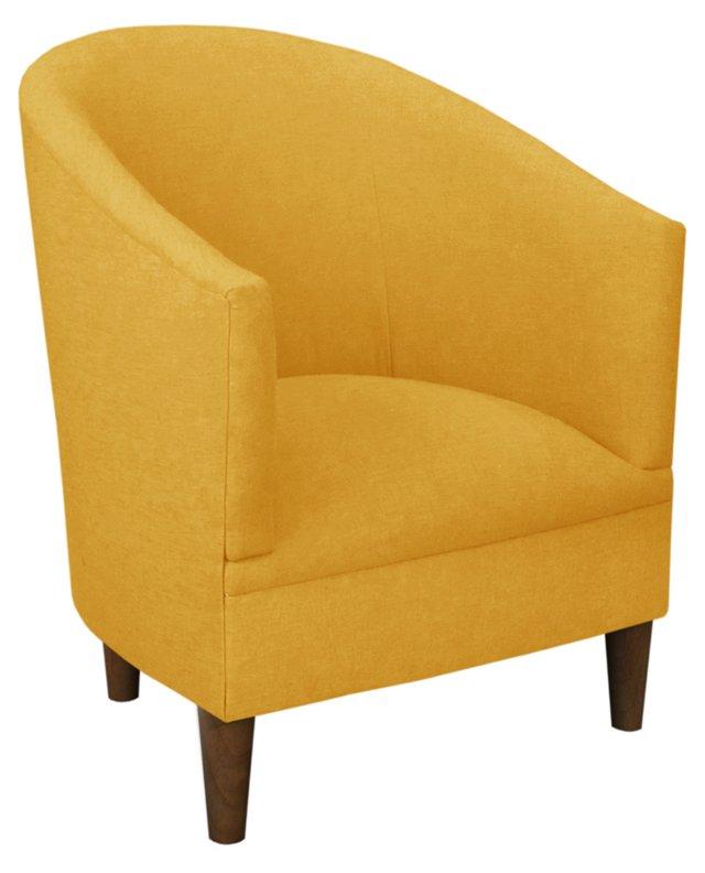 Ashlee Tub Chair, Yellow Linen