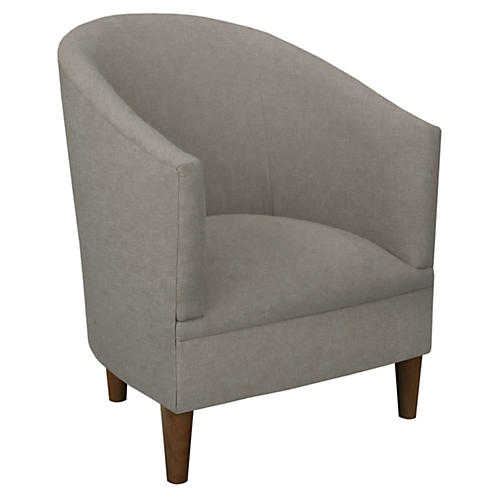 Ashlee Barrel Chair, Gray