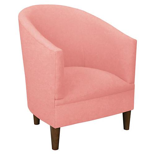 Ashlee Barrel Chair, Petal Linen