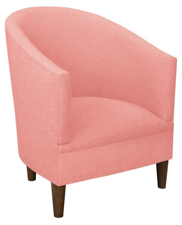 Ashlee Tub Chair, Coral Linen