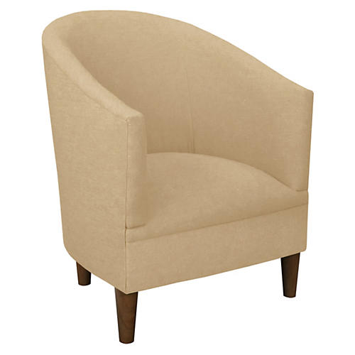 Ashlee Barrel Chair, Sand Linen