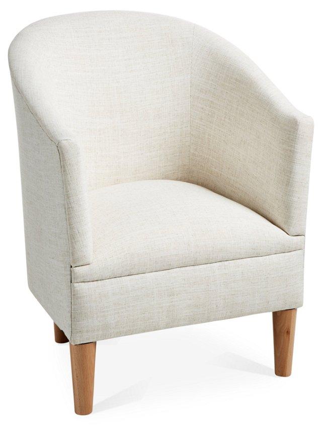 Ashlee Tub Chair, Talc Linen