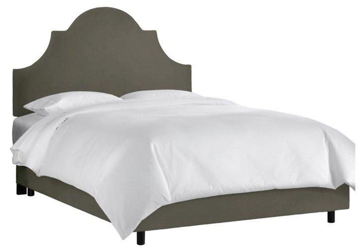 Liv Velvet Bed, Olive