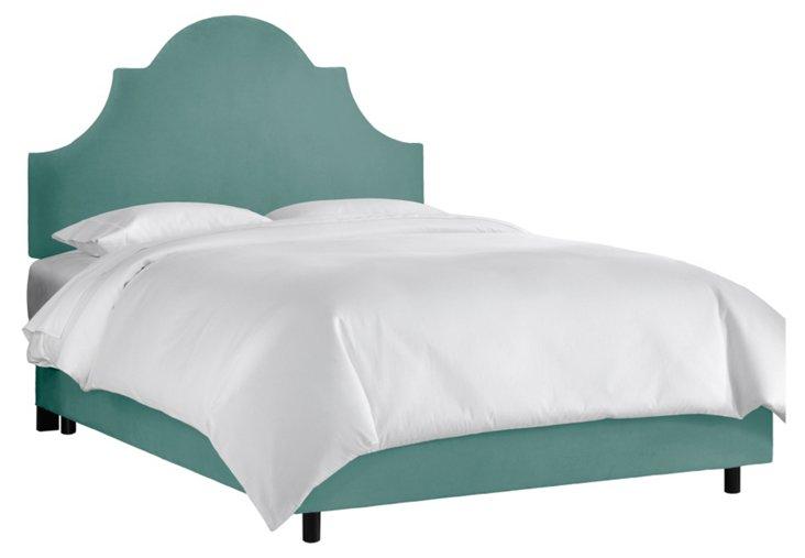 Liv Velvet Bed, Teal