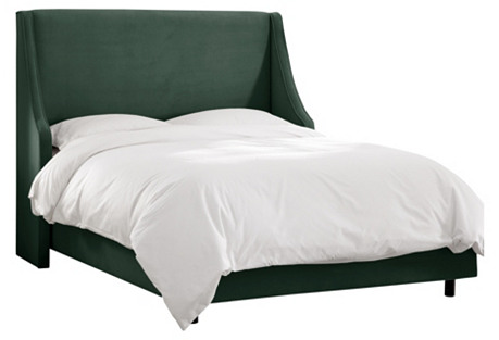 Jade Davis Wingback Bed, Full