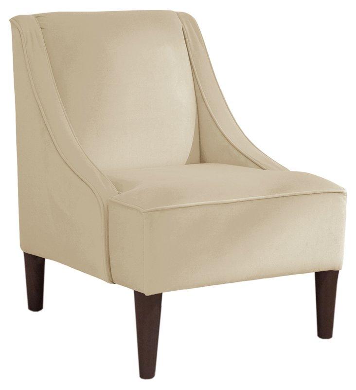 Quinn Swoop-Arm Chair, Cream
