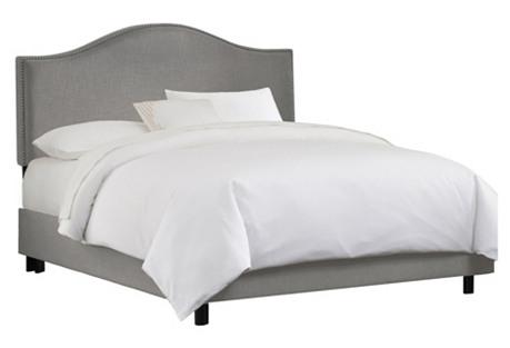 Tallman Bed, Gray Linen