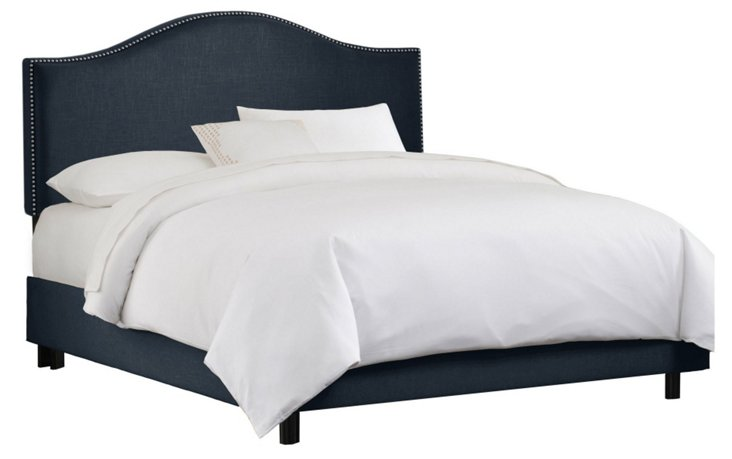 Tallman Arched Bed, Navy