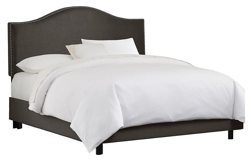 Tallman Bed, Charcoal Linen