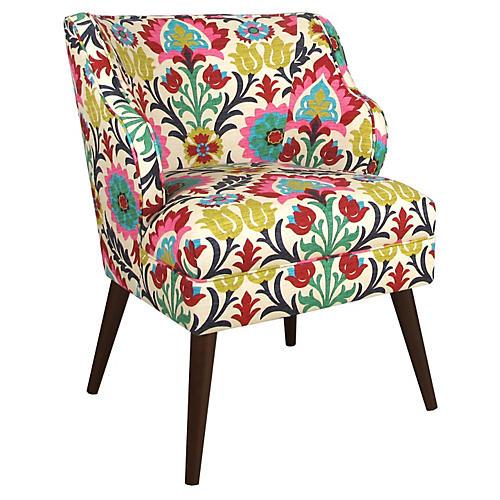 Kira Chair, Pink Multi