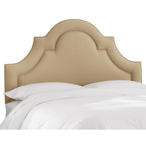 Kennedy Arched Headboard, Sand Linen