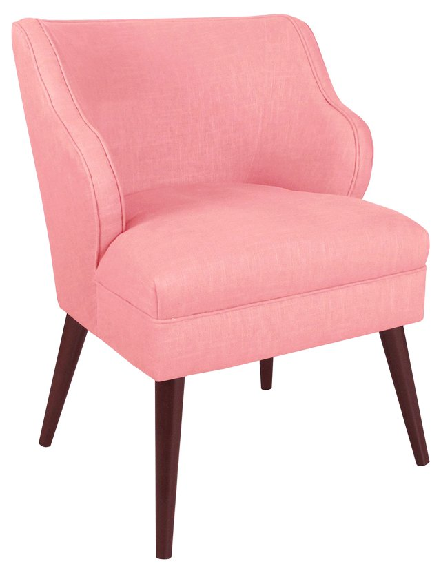 Kira Accent Chair, Light Pink