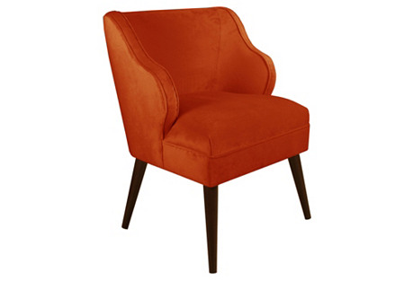 Kira Chair, Mango Velvet