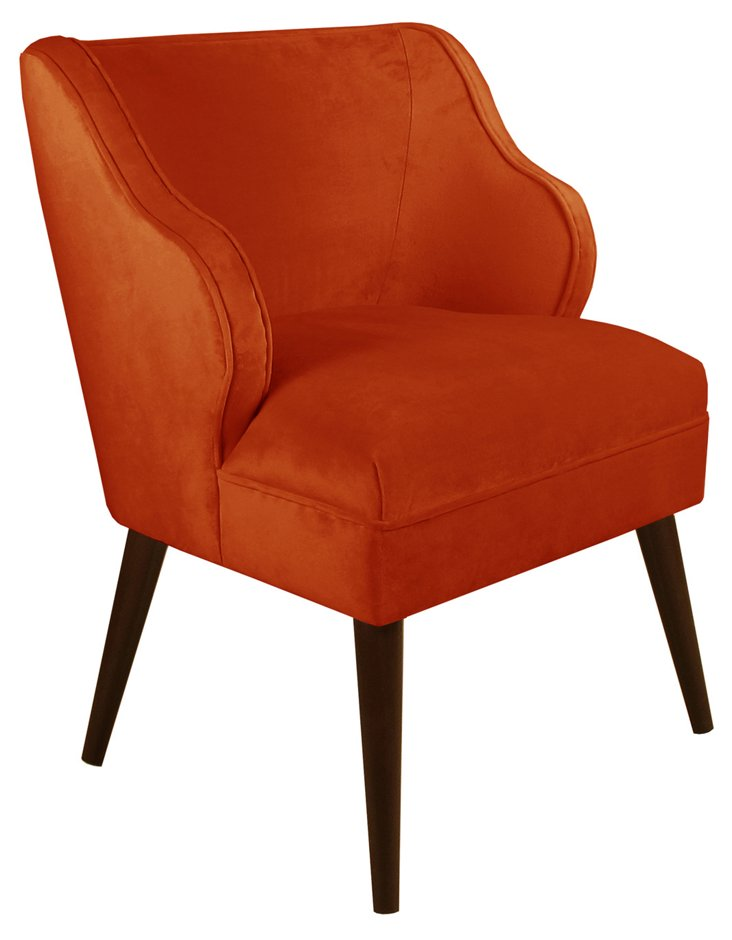 Kira Chair, Mango Velvet