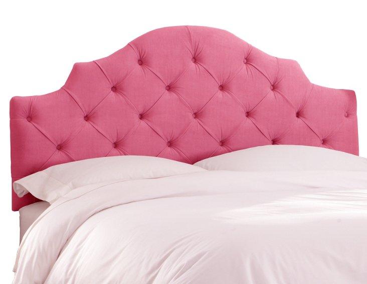 Henley Velvet Tufted Headboard, Pink
