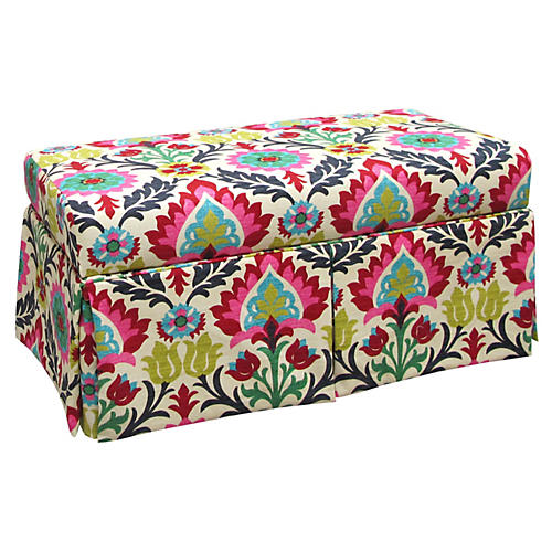 Hayworh Skirted Storage Bench, Multi
